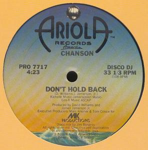 Single Cover Chanson - Don't Hold Back