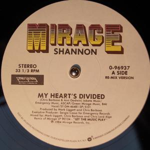 Single Cover Shannon - My Heart's Divided