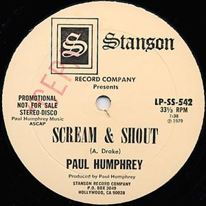 Single Cover Paul - Scream & Shout Humphrey