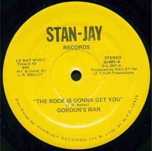 Single Cover Gordon's War - The Rock Is Gonna Get You