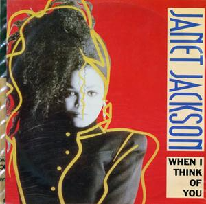 Single Cover Janet - When I Think Of You Jackson