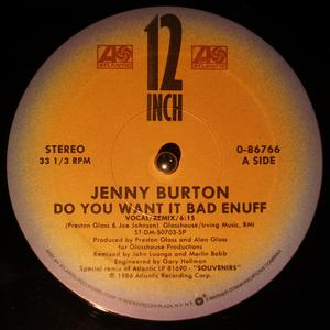 Single Cover Jenny - Do You Want It Bad Enuff Burton