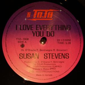 Single Cover Susan - I Love Everything You Do Stevens