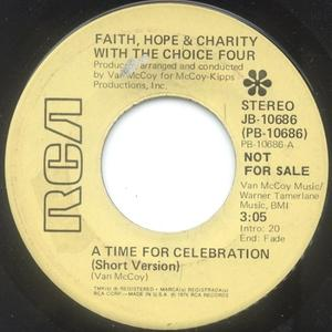 Single Cover The - A Time For Celebration Choice Four