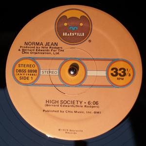 Single Cover Norma Jean - High Society Wright
