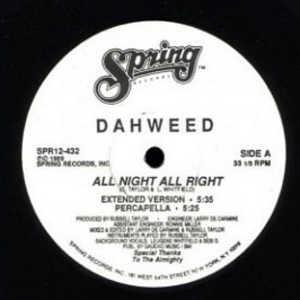 Single Cover Dahweed - All Night All Right