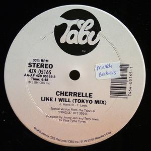 Single Cover Cherrelle - Like I Will (tokyo Remix)