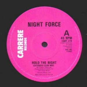 Single Cover Night Force - Hold The Night