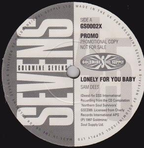 Single Cover Sam - Lonely For You Baby Dees