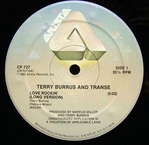 Single Cover Terry - Love Rockin Burrus And Transe