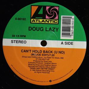 Single Cover Doug Lazy - Can't Hold Back (u No)