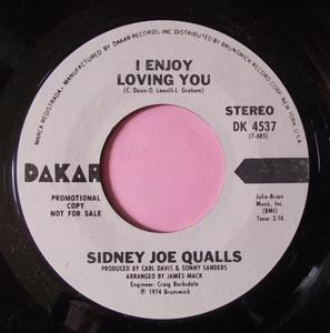Single Cover Sidney Joe - I Enjoy Loving You Qualls