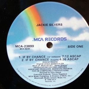 Single Cover Jackie - If By Change Silvers