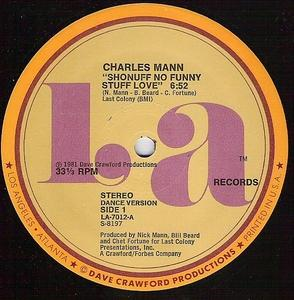 Single Cover Charles - Shonuff No Funny Stuff Love Mann