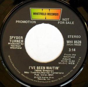 Single Cover Spyder - I've Been Waitin' Turner