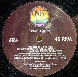 Single Cover Patti - Only A Breath Away Austin