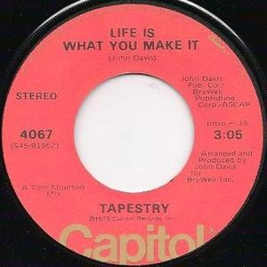 Single Cover Tapestry - Life Is What You Make It
