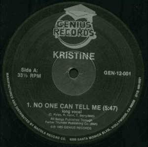 Single Cover Kristine - No One Can Tell Me