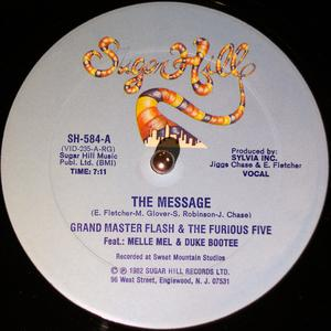 Single Cover Grandmaster Flash And The Furious Five - The Message