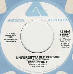 Single Cover Jeffree - Unforgettable Person
