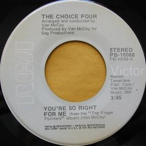 Single Cover The - You're So Right For Me Choice Four