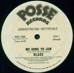 Single Cover Blaze - We Come To Jam