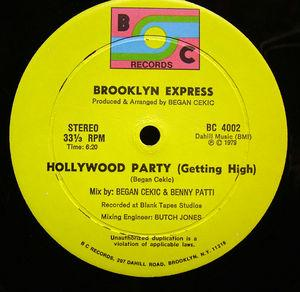 Single Cover Brooklyn Express - Hollywood Party (getting High)
