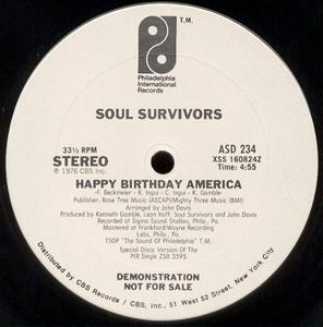 Single Cover Soul Survivors - Happy Birthday America