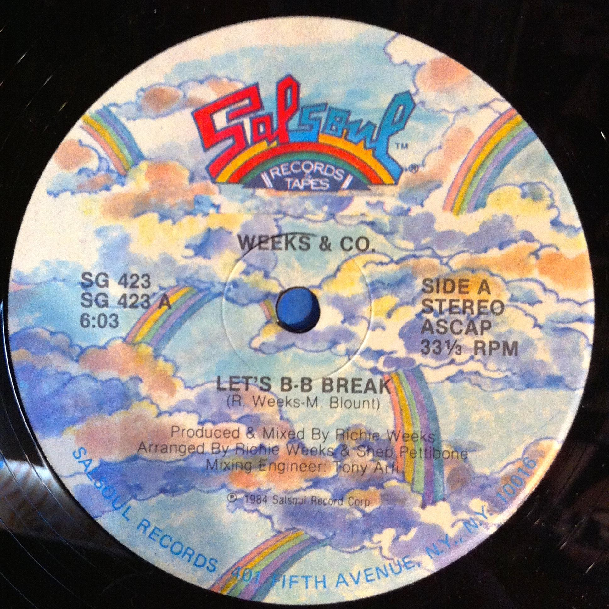 Single Cover Weeks & Company - Let's B B Break