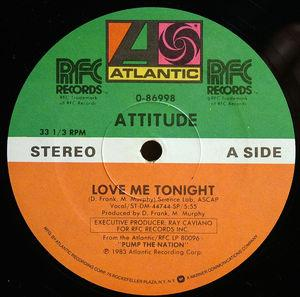 Single Cover Attitude - Love Me Tonight
