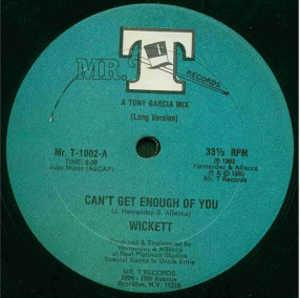 Single Cover Wickett - Can't Get Enough Of You