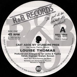 Single Cover Louise - Cast Aside My Stubborn Pride Thomas