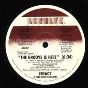 Single Cover Legacy - The Groove Is Here