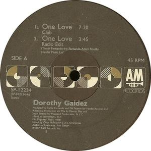 Single Cover Dorothy - One Love Galdez