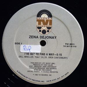Single Cover Zena - I've Got To Find A Way Dejonay