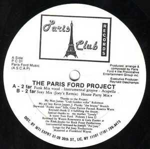 Single Cover Paris - 2 Far Feat. James Robinson Ford