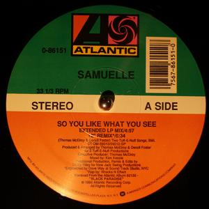 Single Cover Samuelle - So You Like What You See