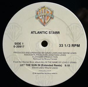 Single Cover Atlantic Starr - Let The Sun In