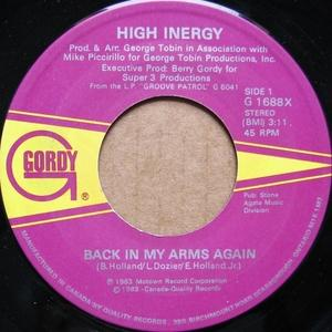 Single Cover High Inergy - Back In My Arms Again