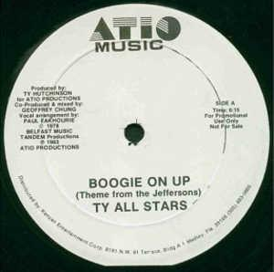 Single Cover Ty All Stars - Boogie On Up (theme From The Jeffersons)