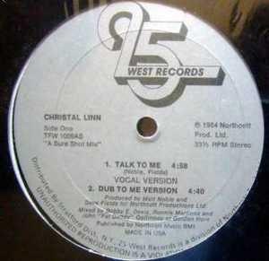 Single Cover Christal - Talk To Me Linn