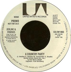 Single Cover Jerline And Friends - A Country Party