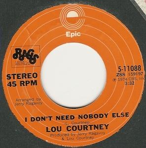 Single Cover Lou - I Don't Need Nobody Else Courtney