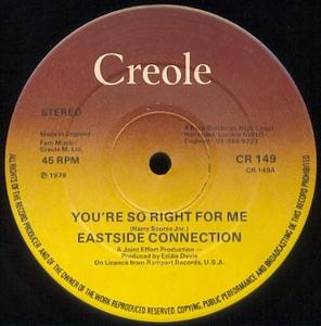 Single Cover Eastside Connection - You're So Right For Me