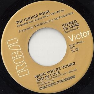 Single Cover The - When You're Young And In Love Choice Four