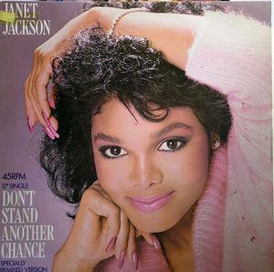 Single Cover Janet - Don't Stand Another Chance Jackson