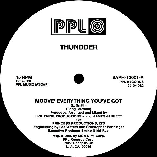 Single Cover Thundder - Moove Everything You've Got
