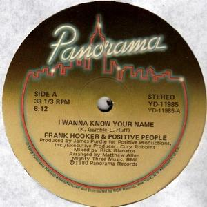 Single Cover Frank - I Wanna Know Your Name Hooker & Positive People