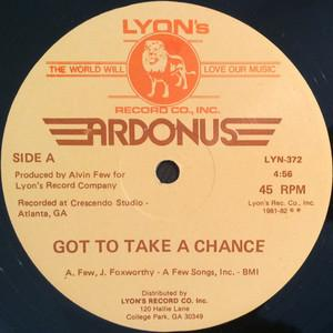 Single Cover Ardonus - Got To Take A Chance