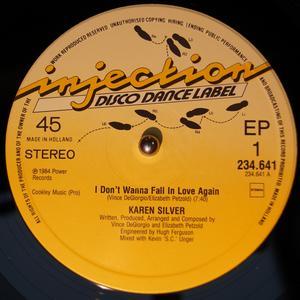 Single Cover Karen - I Don't Wanna Fall In Love Again Silver